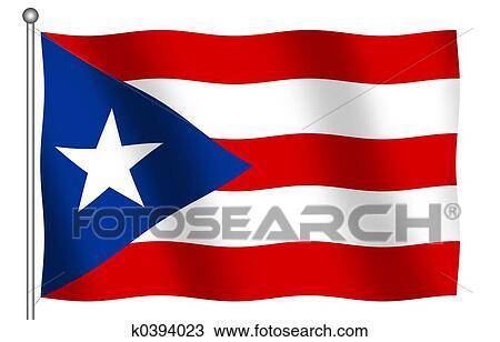 dibujo bandera de puerto rico k0394023 buscar clip art