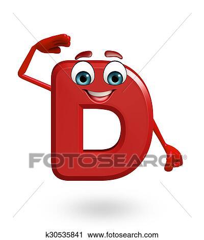 Clipart - caricatura, carácter, de, alfabeto, d k30535841 - Buscar ...