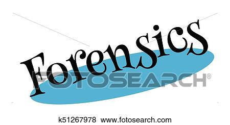 Forensics Rubber Stamp Clip Art K51267978 Fotosearch