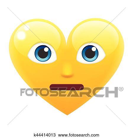 Imbarazzato Cuore Sorriso Emoticon Imbarazzato Cuore Emoji Clipart