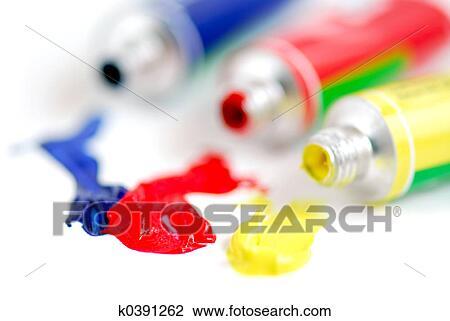Stock Photo Of Primary Colors Paint K0391262 Search Stock