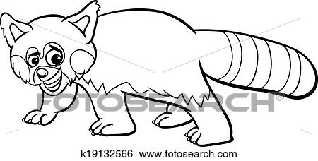 red panda cartoon coloring page clip art k19132566 fotosearch https www fotosearch com csp039 k19132566