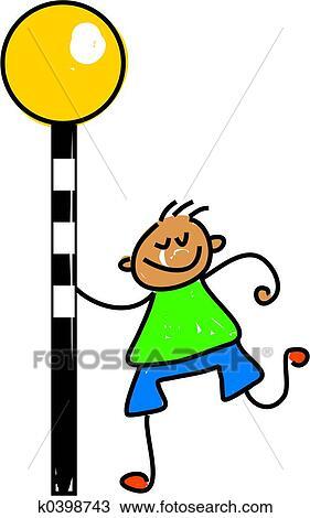 Zebra Crossing Kid Drawing K0398743
