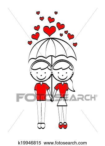 Amor Desenho Clipart K19946815 Fotosearch