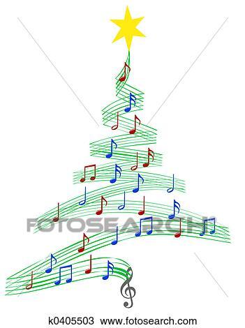Christmas Carol Music.Carol Music Christmas Tree Drawing