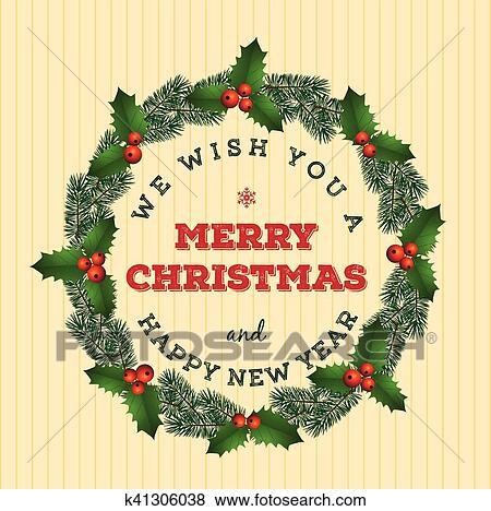clip art navidad guirnalda fotosearch buscar clip art ilustraciones de murales - Guirnalda Navidad