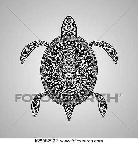 d51910dd2 Vector Turtle, tattoo style Clipart   k25082972   Fotosearch