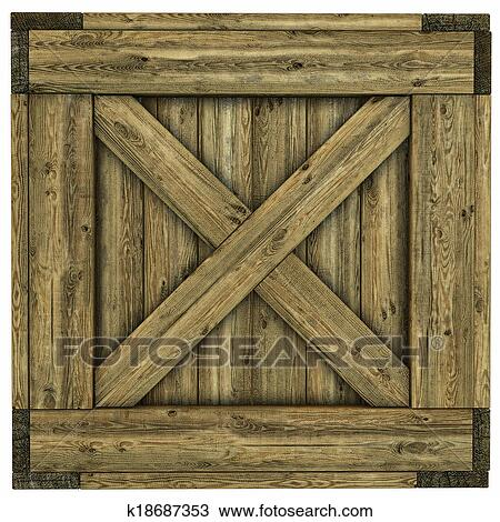 Drawing Of Wood Crate K18687353