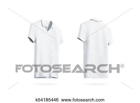 Stock Illustration of Blank white polo shirt mockup isolated, front ...