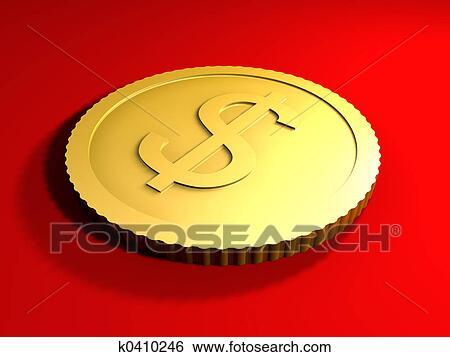 Rendido Ilration Genérico Moneda Simbólico Para El Dólar Currency