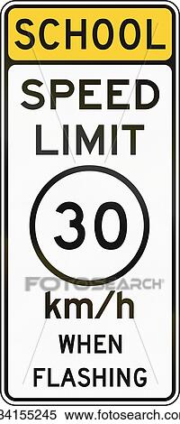 Stock Illustration Of United States Mutcd School Zone Road Warning