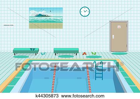 Clipart piscine publique int rieur bleu water for Piscine publique