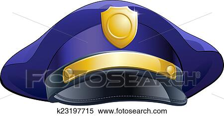 clipart of policeman hat icon k23197715 search clip art