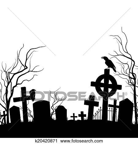 clipart cemitério k20420871 busca de ilustrações clip art