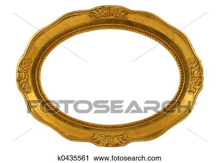Clipart of gilded oval frame k0435561 - Search Clip Art ...