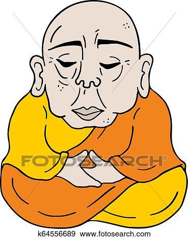 Homem Velho Meditar Desenhar Clipart K64556689 Fotosearch