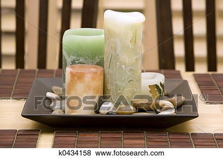 Bilder Kerzen Deko Tisch K0434158 Suche Stockfotos Bilder
