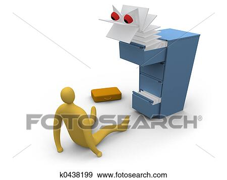 Lavoro Ufficio Clipart : Archivio illustrazioni lavoro ufficio mostro k