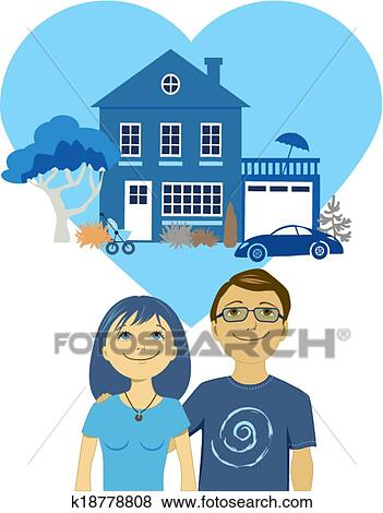 Building a life together Clip Art   k18778808   Fotosearch