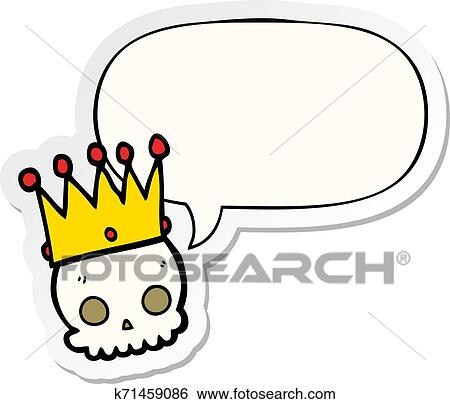 Cartoon Skull And Crown And Speech Bubble Sticker Clip Art K71459086 Fotosearch Choose from over a million free vectors, clipart graphics, vector art images, design templates, and illustrations created by artists worldwide! fotosearch
