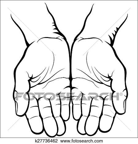 Clipart Of Empty Open Palms K27736462