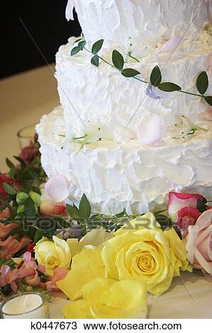 Hochzeit Kuchen Suesser Nachtisch Stock Bild K0447673