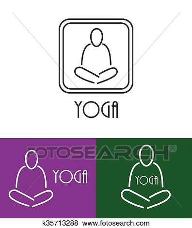 Lotus Yoga Symbol Vector Clip Art K35713288 Fotosearch