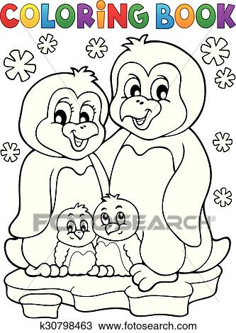 Clipart Ausmalbilder Pinguin Familie Thema 1 K30798463 Suche