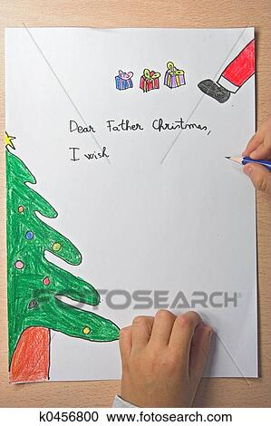 Stock photography of father christmas letter k0456800 search stock father christmas letter spiritdancerdesigns Image collections