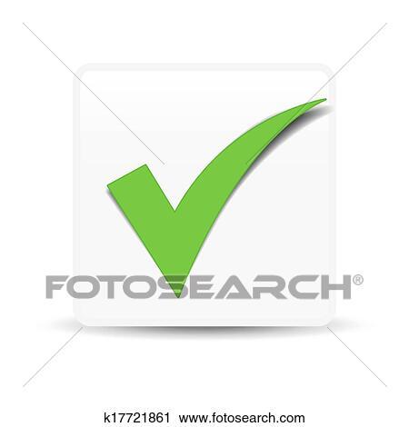Clipart Of Green Check Mark Symbol K17721861 Search Clip Art