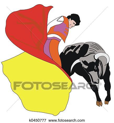 stock illustration of matador k0450777 search eps clipart rh fotosearch com