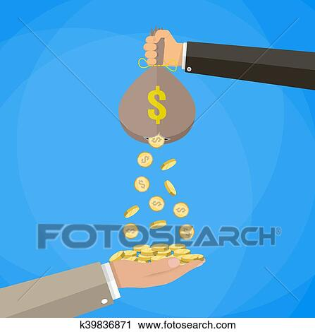 Money bag with hole Clipart | k39836871 | Fotosearch
