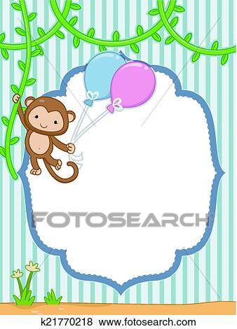 Clip Art of Safari Frame k21770218 - Search Clipart, Illustration ...