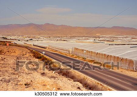 Intensive farming in high tunnels in Almeria, Spain Stock Image