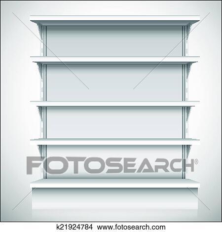 Marvelous White Supermarket Shelves Clipart Home Remodeling Inspirations Genioncuboardxyz