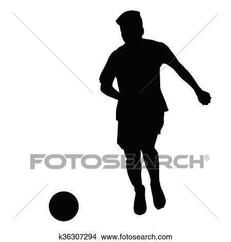 Fussballspieler Coasted Kugel Vektor Freigestellt