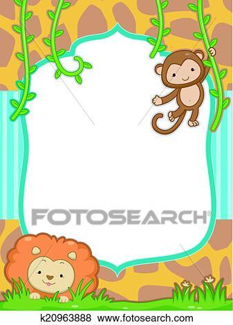 Clip Art of Safari Frame k20963888 - Search Clipart, Illustration ...