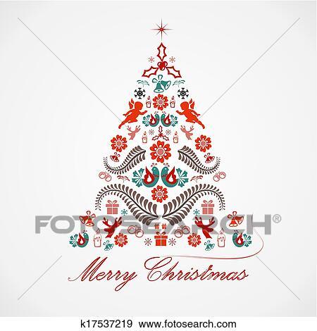 Immagini Natalizie Stilizzate.Stilizzato Disegno Albero Natale Clip Art