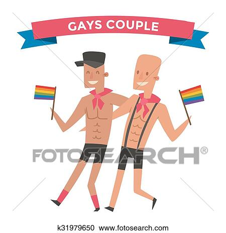 clipart of homosexual gay people couple vector k31979650 search rh fotosearch com gay wedding clipart free gray clip art