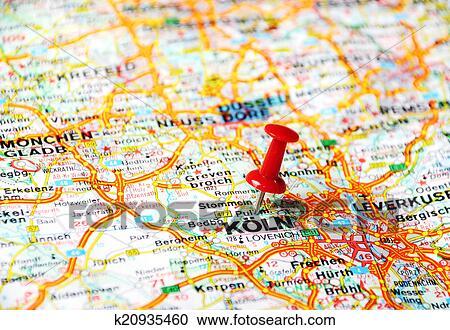 Koln Landkarte Stock Bild K20935460 Fotosearch