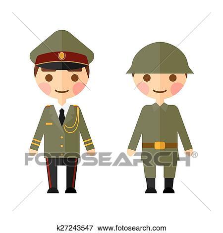 Große dicke Militärmänner