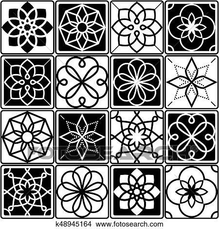 Dibujos Portugues Azulejo Azulejos Diseno Seamless Patrones - Azulejos-con-dibujos