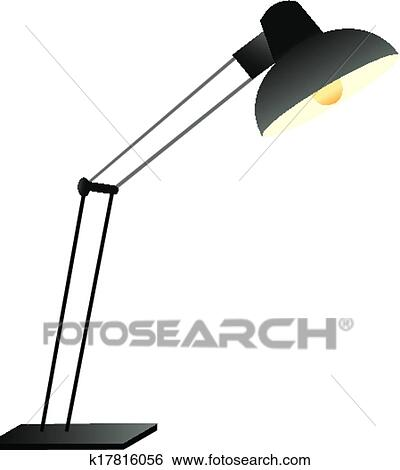 Clip Art The View Of Desk Lamp Fotosearch Search Clipart Ilration Posters