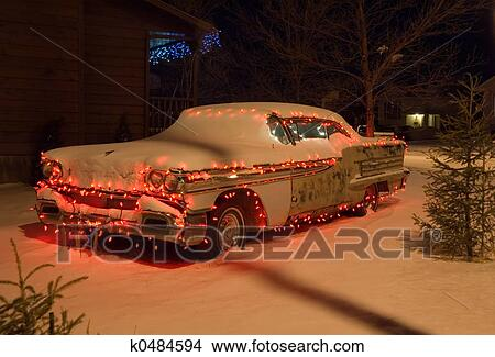 Weihnachten Auto 2 Bild K0484594 Fotosearch
