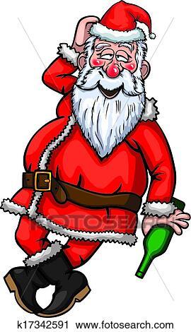 Babbo Natale Ubriaco.Babbo Natale Ubriaco Clipart K17342591 Fotosearch