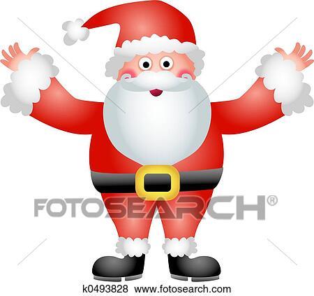 Father Christmas Cartoon Images.Father Christmas Standartinė Iliustracija