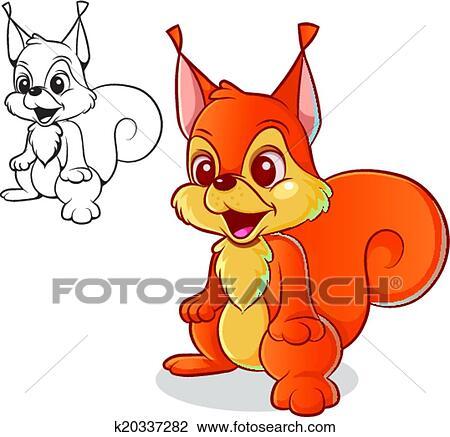 Clipart Scoiattolo Rosso K20337282 Cerca Clipart Illustrazioni