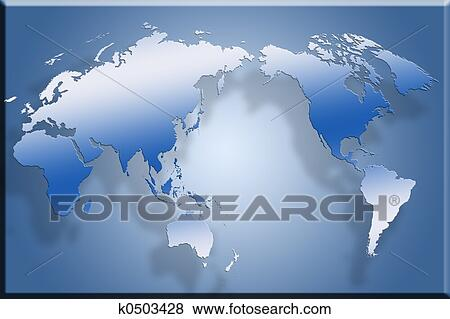 Stock illustration of 3d flat world map k0503428 search eps clip stock illustration 3d flat world map fotosearch search eps clip art drawings gumiabroncs Image collections