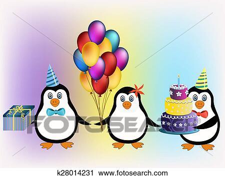 Clipart Alles Gute Geburtstag Pinguine Begriff K28014231 Suche