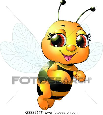 clip art of beautiful bee k23889547 search clipart illustration rh fotosearch com beautiful clipart pinterest beautiful clipart free